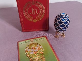 Imperial Treasures by Joan Rivers Four Seasons of Eggs   The Winter Ice Crystal Fabrege Egg