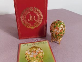 Imperial Treasures by Joan Rivers Four Seasons of Eggs   The Spring Clover Fabrege Egg