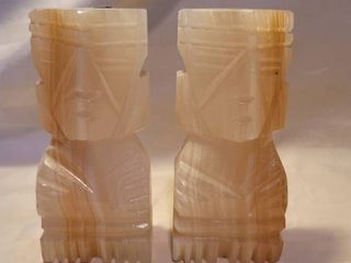 Made in Mexico Alabaster Bookends