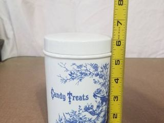 Vintage Candy Treats Jar with lid Royal Criwnford Ironstone Staffordshire England