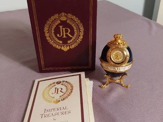Imperial Treasures by Joan Rivers Fabrege Eggs Series 1   The 3rd in Series The Timepiece Egg