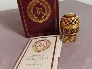 Imperial Treasures by Joan Rivers Series 2   First Egg in Series The Potpourri Egg