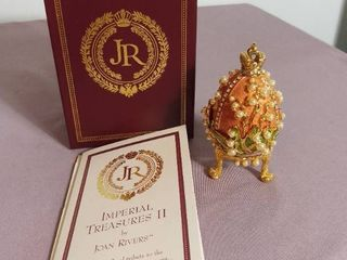 Imperial Treasures by Joan Rivers Series 2   The Final Egg in Series The lily of the Valley Egg
