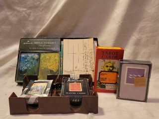 lot of Vintage Tarot and Playing Cards