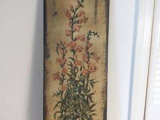 Print on Wood of Snapdragons Plant