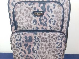 Cheetah Print Departures Rolling Carry on Bag
