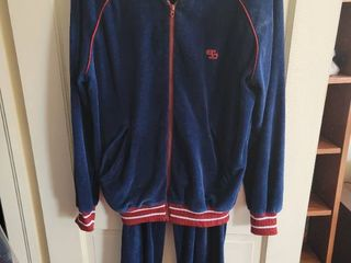 Navy Blue and Maroon Top Seed Esq Size Medium Mens Jumpsuit