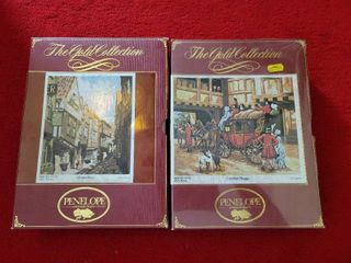 lot of 2 Penelope Needlecraft The Gold Collection Tapestry Needlepoint
