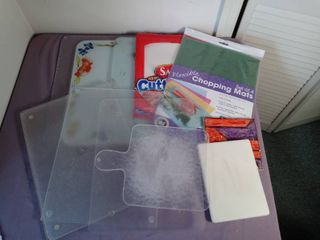 Small lot of Miscellaneous Cutting Boards of Various Sizes