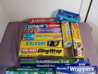 Small lot of Kitchen Plastic Wrap  Foil and othet Miscellaneous Paper Items