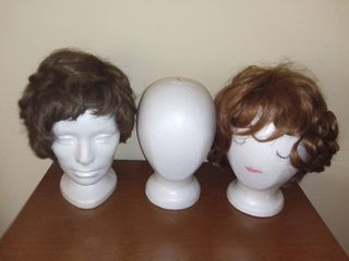Vintage Wigs With Styrofoam Heads