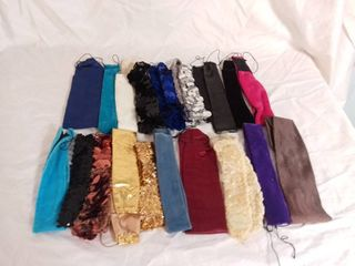 lot of 19 Retro Hair Head Bands   Payet  Velvet  Satin and Other Materials