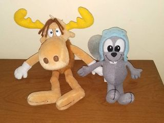 Equity Toys Rocky and Dakin Bullwinkle Plush Toys