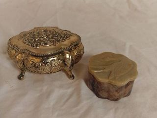 lot of 2 Small Antique Ring Earring Holders