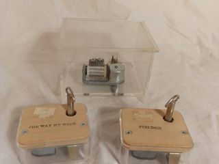 lot of 3 Miscellaneous Music Boxes   One labeled  The Way We Were  and Another labeled  Feelings    All Work