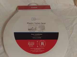 Mainstays Plastic Toilet Seat   Easy Installation   Fits Most Round Bowls