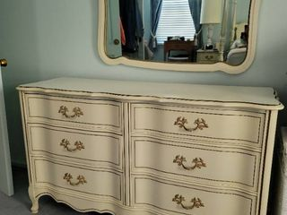 Bassett Furniture French Provincial Dresser with Mirror