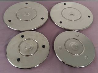 lot Of 4 Metal Hot Plate Dish Holders   Magnatizes Together For Storage
