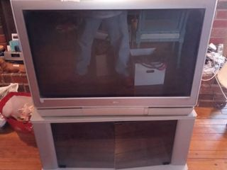 32 Inch Toshiba Television With Remote Manual And TV Stand Included Tested And Working