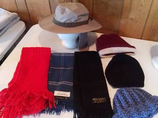 lot of Hats and Scarves  Saks  Cashmere