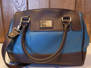 Brown and Teal Tignanello leather Hand Bag