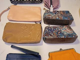 lot of 8 Makeup  Coin Pouches
