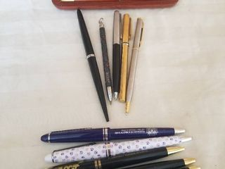 lot of Nice Pens and Pencils  Wooden NSA Pen and Pencil