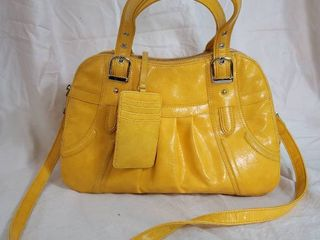 Canary Yellow Maxx Womans leather Bag