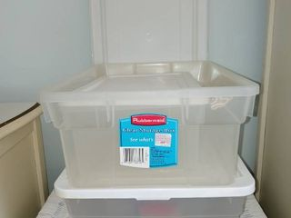 lot Of 4 Storage Totes 2 Small 2Med