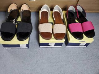 lot of 3 Pairs of Nordstrom Kendra2 Style Shoes  8 5  Bkack  Beige  and Fuchsia