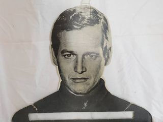 Rare Vintage PAUl NEWMAN Famous Faces Clothes Hanger Cool Hand luke ButchCassidy
