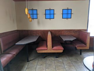 Section Of Booth Seating With Tables