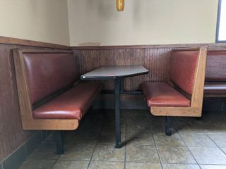 Corner Booth Seating With Table