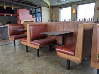 Row Of Connected Booth Seats Comes With Two Tables