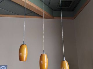 3  Hanging Pendant lights