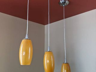 3  Hanging Pendant lights  Need Dusted