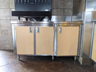 Stainless Steel Condiment And Trash Can Holder