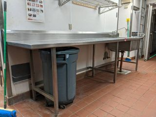 Stainless Steel Prep Table With Sink  Comes With Edlund Can Opener