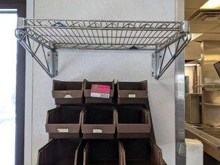 Metro Rack Shelf And Plastic Condiment Organizer
