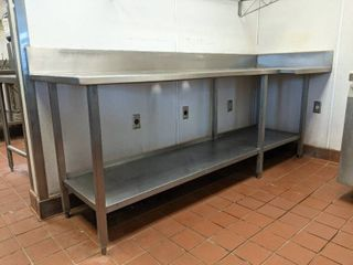 Stainless Steel Prep Table With Small Dents And Scratches