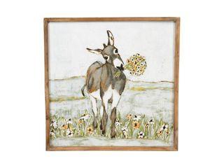 Donkey Framed Wall Canvas Art   3R Studios