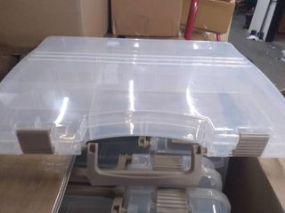 large Connectable Storage Containers with Plastic Dividers 12pk