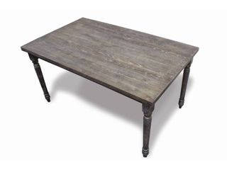 Best Master Furniture Demi Grey Wood and Veneer Distressed Dining Table Retails   251