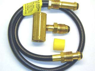 Mr  Heater 2 Tank Hook Up Kit with Tee and 30 Inch Hose Assembly with P O l  Male Ends