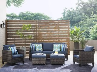 Ovios Patio Furniture Outdoor Furniture Set High Back Wicker Furniture Sectional  COUCH ONlY  8 10 Pieces Set  Retails 1626 49  COUCH ONlY