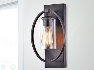Anastasia Single Wall light Sconce with Clear Glass Shade  Retail   88 09