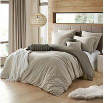 Ultra Soft Reversible Crinkle Duvet Cover Set   King Cal King Bedding Retail  44 99