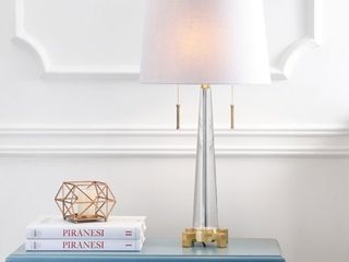 29 5  Zoe 2 light Crystal lED Table lamp Clear   Retail  135 99