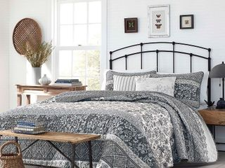 Stone Cottage Abbey Grey Quilt Set King   Retail   129 99