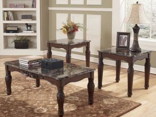 Signature Design by Ashley North Shore 3 Occasional Table Set  1 Cocktail   2 End Tables   Retail  483 49